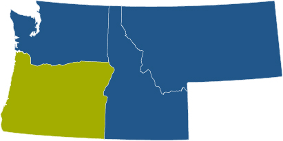 oregon usa map wide for voyager