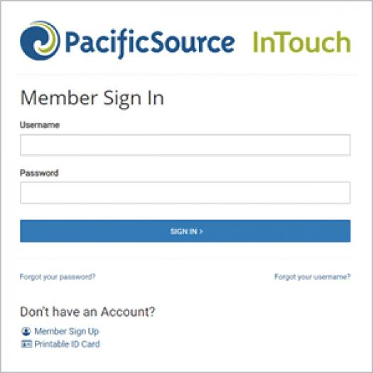 Step one: Sign into InTouch