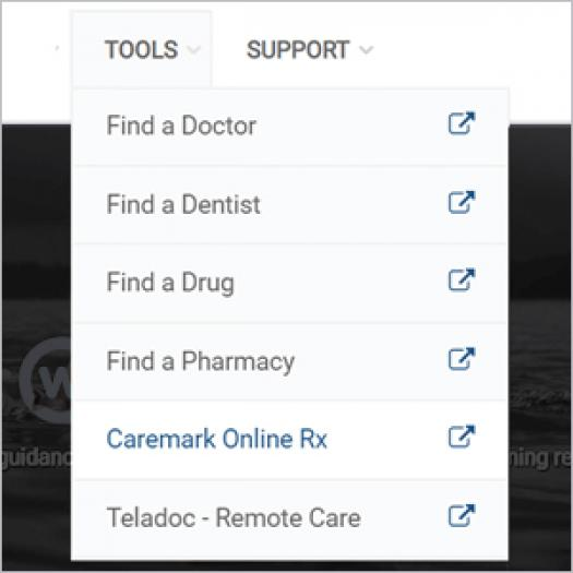 Step two: Find the link to CVS Caremark